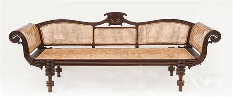 colonial settee 19th century colonial caned settee for sale at 1stdibs
