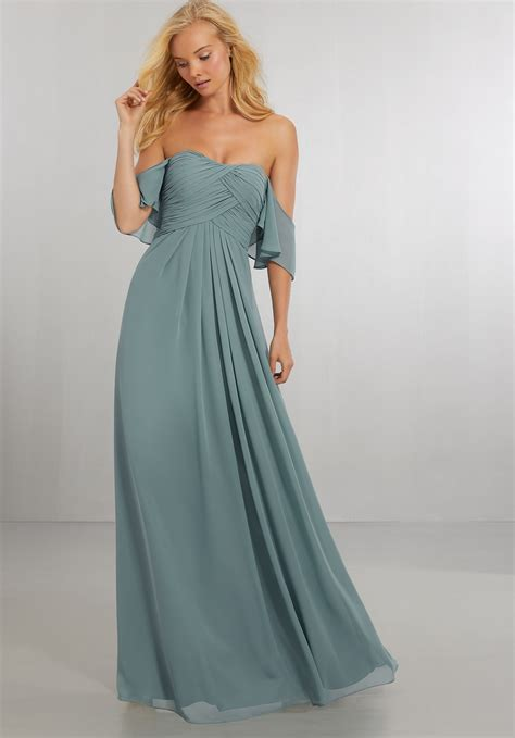 Bridesmaid Dresses by Boho Chic Chiffon Bridesmaids Dress With The Shoulder