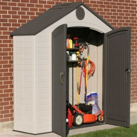 Lifetime Products Gable Storage Shed Manual by Lifetime 8x2 5 Heavy Duty Plastic Shed