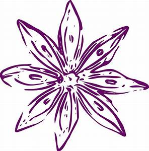 Purple Outline Flower Clip Art at Clker.com - vector clip ...
