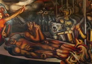 torment of cuauhtemoc by david alfaro siqueiros art i