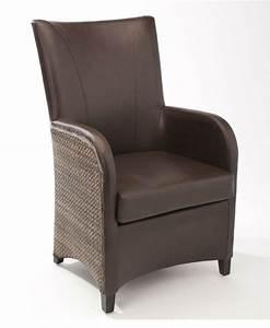 Fauteuil Table à Manger : fauteuil de salle manger en cuir synth tique brin d 39 ouest ~ Teatrodelosmanantiales.com Idées de Décoration
