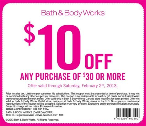 Canadian Coupons: Bath & Body Works Canada $10 off $30 ...