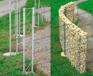 Mur En Gabion : mur gabion 180x110x20cm gabion mur et cage ~ Premium-room.com Idées de Décoration