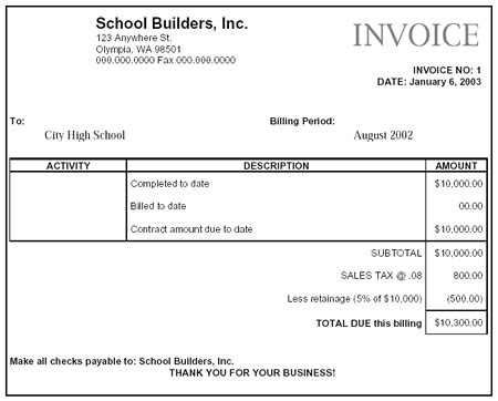 sample business invoice templates  blog  office guys