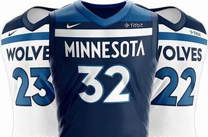 Timberwolves Uniforms Nba Minnesota Nike Jersey Wolves