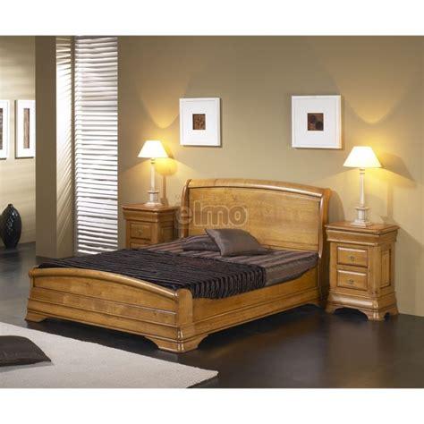 chambre à coucher merisier lit adulte merisier massif et chevets style louis philippe