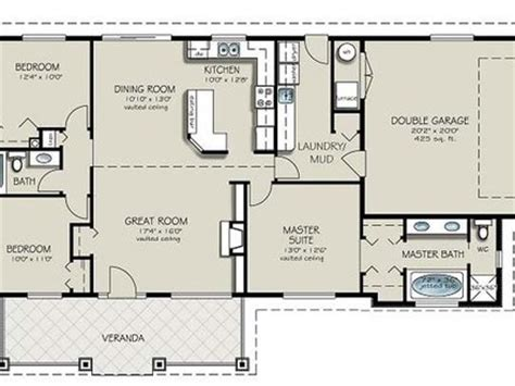simple 4 bedroom house plans one craftsman style homes craftsman one ranch