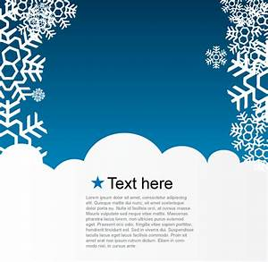Vector Christmas Greeting Card with Snowflakes on Blue ...