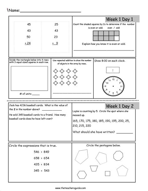 Unique Free Printable Worksheets For 3rd Grade Downloadtarget