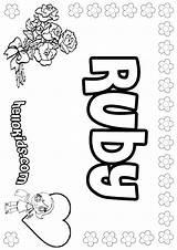 Ruby Coloring Pages Print Name Copycat Printable Pastel Names Template Hellokids Designlooter Colorings Mames Getdrawings Getcolorings sketch template