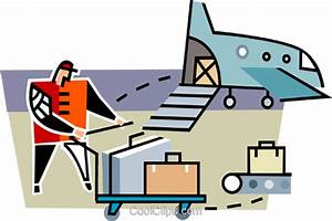 baggage handler at the airport Royalty Free Vector Clip ...