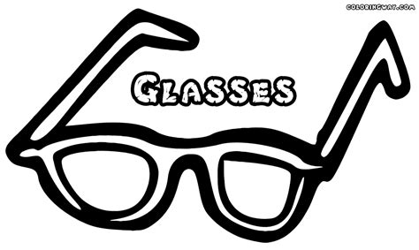 glasses coloring pages coloring pages    print