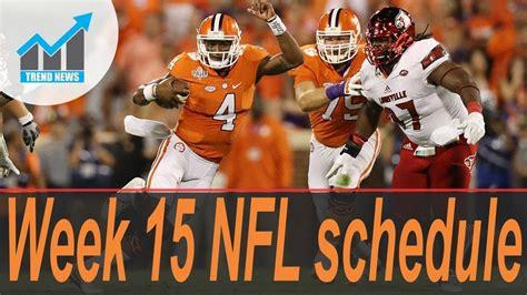 week  nfl schedule draft order playoff implications