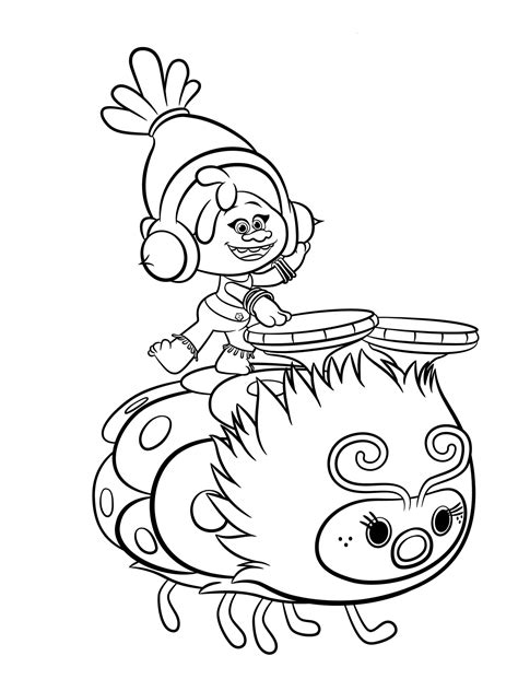 trolls coloring pages    print