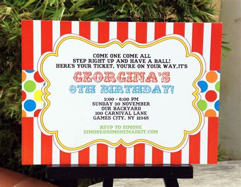 carnival invitation template 7 best images of carnival birthday printable invitation templates free adobe free