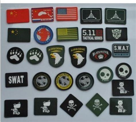 pcslot   number  designs  pvc patch military