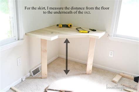 corner vanity desk diy dressing table beneath my