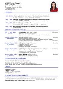 Resume Francais Exemple by Modele Cv En Anglais
