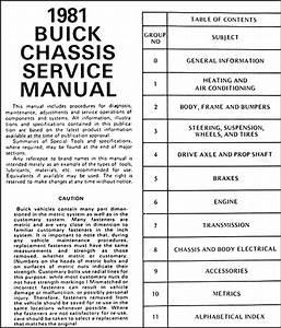 1981 Buick Repair Shop Manual Original  Lesabre