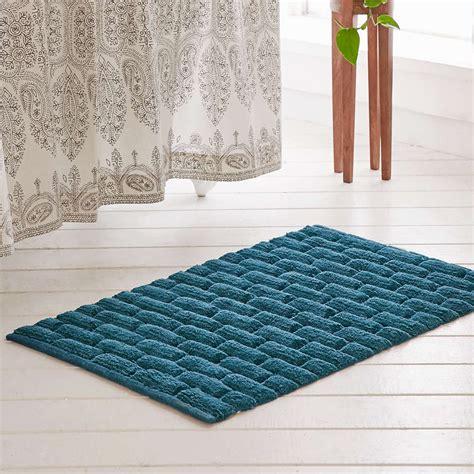 billie bath mat  turquoise