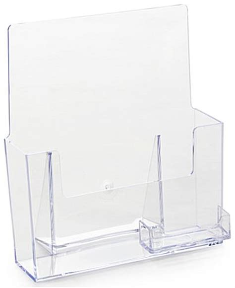 plastic magazine holders magazine holder clear plastic design with business card 1545