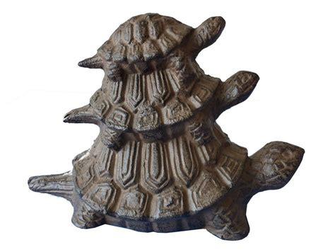 cast iron door stops buy rustic cast iron turtle family doorstop 8 inch nautical