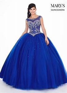 Marys Quinceanera Dresses   Style - MQ2047 in Royal/Silver ...