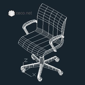 Sedia 3d Dwg Office Chair 3d Block In Furniture Autocad Free Drawing 76