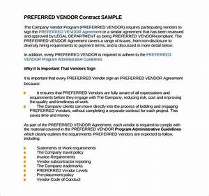 sample vendor contract template 13 free samples With wedding vendor contract template