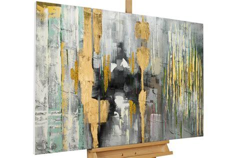modernes acrylgem 228 lde grau gelb kaufen kunstloft