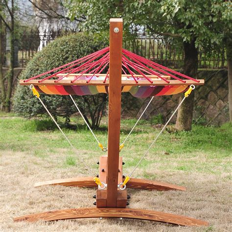 wood hammock stand outsunny wooden arc hammock stand with colorful hammock
