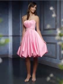 fuchsia bridesmaid dress ruffled satin knee length belt pink bridesmaid dresses zoombridal prlog