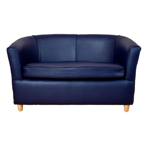 leather tub chair navy blue