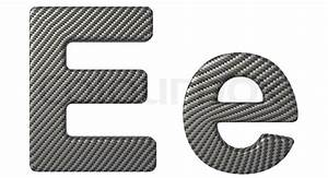 carbon fiber font e lowercase and capital letters stock With carbon fiber letters