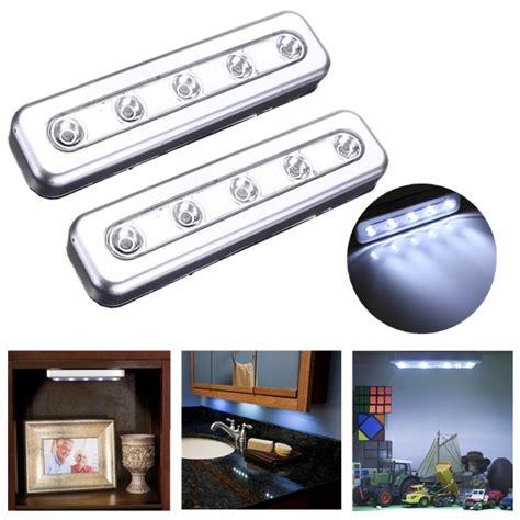 stick on under cabinet lights tap lights 5 led self stick under cabinet push night light