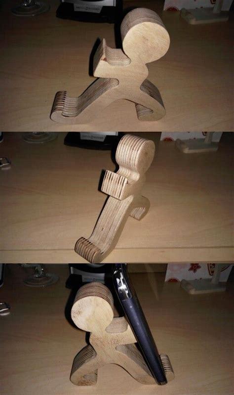mobile phone holder wood  drevo inspiracia napady
