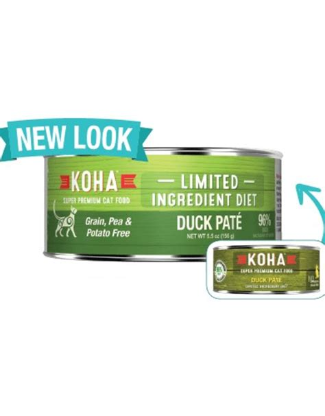 Koha Limited Ingredient Duck Pate for Cats - Molly's Healthy Pet Food Market