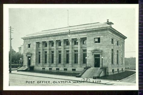 Post Office Olympia Washington Vintage Unused Postcard