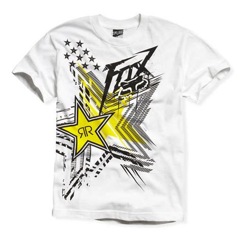 fox motocross t shirts fox racing rockstar energy showcase t shirt motocross ebay