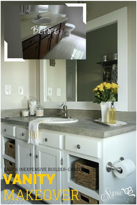 builder grade bathroom vanity makeover  tutorial
