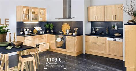 cuisine bouleau lapeyre cuisine origine en bouleau massif prix 1109 aménagement lapeyre