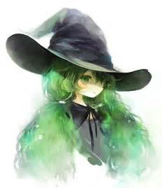 Anime Witch with Green Hair