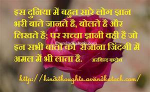 Hindi Thought HD Picture Message on Real Wise Man सच्चा ...