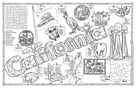 California State Symbols Coloring Pages California Symbols Science And Social Studies