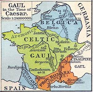 Gaul in the time of Caesar | Maps of the Ancient World ...
