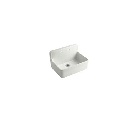 Kohler Gilford Wall Mounted Sink by Kohler K 12700 47 Almond Gilford 30 Quot Single Basin Wall
