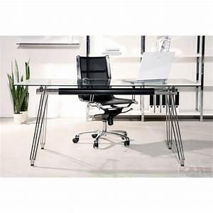 Bureau En Verre Design : bureau moderne en verre officia kare design ~ Teatrodelosmanantiales.com Idées de Décoration