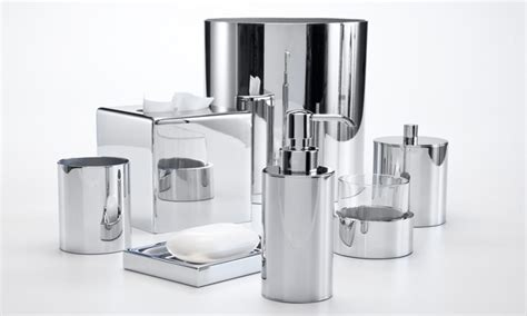 upscale bath accessories chrome bathroom accessories set