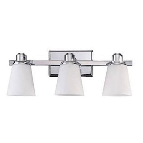 Canarm Chatham Chrome Three Light Bath Fixture With Flat